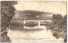 Dépt 54 - FROUARD - Le Pont De Fer - La Moselle Et Ses îles - (au Fond : Le Château De Clévent) - Frouard