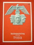 """Farbige Propagandakarte """"Reichsparteitag In Nürnberg 1935"""" Von Deutsches Reich, Gelaufen - Allemagne"""