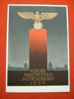 """Farbige Propagandakarte """"Reichsparteitag In Nürnberg 1936"""" Von Deutsches Reich, Gelaufen - Allemagne"""