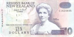 BILLETE DE NUEVA ZELANDA DE $10 (BANKNOTE)  (PATOS-BIRD) - New Zealand