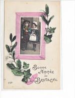 24046 Bonne Année De Bretagne -ELD -cornouaille Costume Breton Enfant Finistere Gui - Bretagne