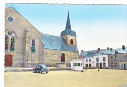 24047 ALLAIRE PLACE DU MARCHE -4 Ed Du Moulin-vieille Voiture 4cv Balance Publique Boulangerie Eglise Colorisee - Allaire