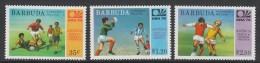 SERIE NEUVE DE BARBUDA - COUPE DU MONDE DE FOOTBALL MUNICH´74 N° Y&T 165 A 167 - World Cup