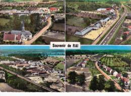 CPSM  Dentelée  De RAI  (61)  -  En Avion Au-dessus De .. Vues Aériennes Diverses // TBE (angle Ht Dt) Carte LAPIE - France