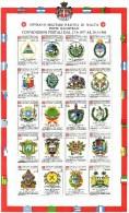 PIA - SMOM - 1986 : Convenzioni Postali Stipulate Tra Il 1977 Ed Il 1986 - (UN Foglietto 20) - Sovrano Militare Ordine Di Malta