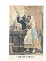 24055 Serie Marin Femme Amoureux Costume Voilier Bateau -AS 316 II 2 Regards Tendresses Baisers Transports - Voiliers