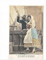 24055 Serie Marin Femme Amoureux Costume Voilier Bateau -AS 316 II 2 Regards Tendresses Baisers Transports