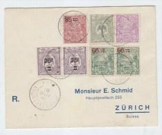 New Caledonia/Switzerland REGISTERED CIVER 1932 - New Caledonia