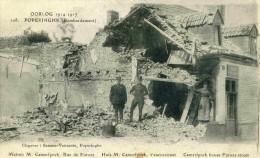 POPERINGHE - FLANDRE OCCIDENTALE -  BELGIQUE - PEU COURANTE CPA ANIMEE.DE 1919