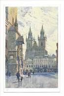 10604 -   Künstler-AK Jaroslav Setelik: Tyn, Eglise - Tchéquie