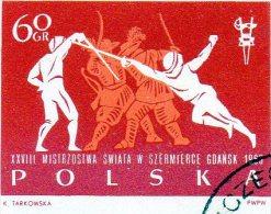 B - 1963 Polonia - Campionati Mondiali - Scherma