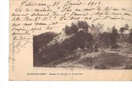 83  SAINTE MAXIME  Ruines Du Chateau De Panescorse (petite Dechirure Cote Droit ) - Sainte-Maxime