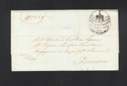 Lettera Administratione Cointeresata Delle Valli Di Comacchio 1853 - Italien