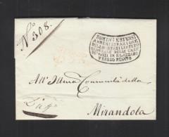 Lettera Stabilimento Generale Delle Case De' Pazzi Degli Stati Estensi In S. Lazaro 1836 - Italien