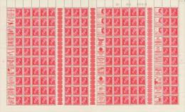 Belgium L�opold II - PUBS - PUc - Kopstaande - Tussenpanneel - T�te-b�che - Interpanneaux - Sheet feuille de 150