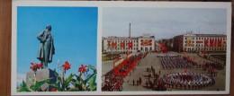 OLD Postcard   SAKHALIN ISLAND - YUZHNO-SAKHALINSK -  Pamyatnik Lenin (monument)  Museum - Pioneer  1973 - Monuments