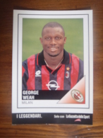 George Weah Football Player Carte Postale - Soccer