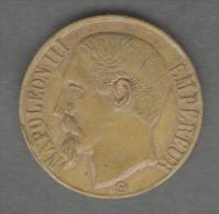 FRANCE - JETON / TOKEN / GETTONE - (Spiel Marke) Napoleon III (22 Mm) - Monarchia / Nobiltà
