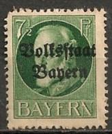 Timbres - Allemagne - Anciens Etats - Bavière - 1919 - 7 1/2 Pf. - - Bavière