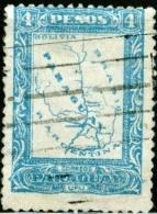 PARAGUAY, MAPPA, 1924, FRANCOBOLLO USATO, Mi 244, Scott 256 - Paraguay