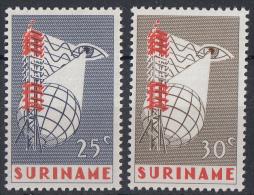 Suriname - Invoering Van Televisie In Suriname - Postfris/MNH - NVPH 460-461 - Suriname ... - 1975