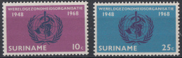 Suriname - 20 Jaar Wereldgezondheidsorganisa Tie - Postfris/MNH - NVPH 495-496 - Suriname ... - 1975