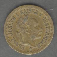 AUSTRIA / OESTERREICH - JETON / TOKEN / GETTONE - (Spiel Marke ) Franz Joseph I Kaiser (22 Mm) - Monarchia/ Nobiltà