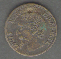 FRANCE - JETON / TOKEN / GETTONE (Spiel Marke) Louis Napoleon Bonaparte (22 Mm) - Monarchia / Nobiltà
