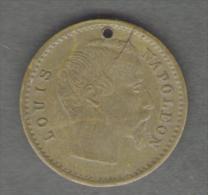 FRANCE - JETON / TOKEN / GETTONE (Spiel Marke) Louis Napoleon (18 Mm) - Monarchia / Nobiltà