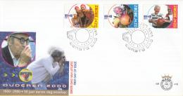 E416 - Ouderenzegels, Samenwerking(2000) - NVPH 1890-1892 - FDC