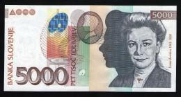 SLOVENIA SLOVENIJA 5000 TOLAR TOLARS TOLARJEV 2004  BANKOVEC BANKNOTE  UNC - Slovénie