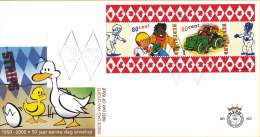 E423 - Strippostzegels - Sjors En Sjimmie(2000) - NVPH 1923 - FDC