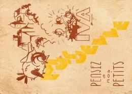 Carte postale illustr�e du STALAG  IV A  ( nombreuses coupures et plis)