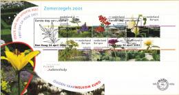 E435a - Zomerzegels, Tuinen(2001) - NVPH 1973 - FDC