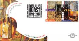 E436 - Nieuwe Kunst 1890-1910(2001) - NVPH 1974-1983 - FDC