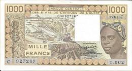 B.C.E.A.O  Haute-Volta - Burkina 1000 CFA  1981 C Série T. 002 - Burkina Faso
