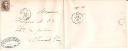 L. TP. 14A cap 197 de JEMEPPE du 27/4/1865 vers Clermont c.arr. ENGIS 28/4 Charbonnages