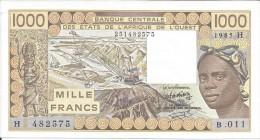 B.C.E.A.O  Niger 1000 CFA  1985 H Série B. 011 - Niger