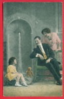 156355 / Teddy Bear Teddybär Ours En Peluche ,  FAMILY MAN WOMAN GIRL 1658 WW1 Censorship 1 Infantry Regiment BULGARIA - Spielzeug & Spiele