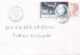 Guadeloupe 1986 Abymes Raizet Space Communication Cover - Brieven En Documenten