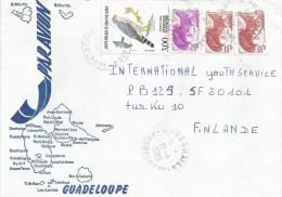 Guadeloupe 1985 Deshaies Falcon Bird Of Prey Cover - Brieven En Documenten