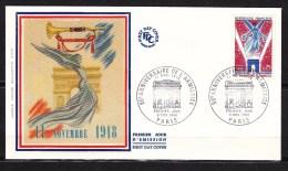 FDC En Soie Enveloppe 1er Jour  France Année 1968 50 ème Anniversaire De L' Armistice Lot 494 - 1960-1969