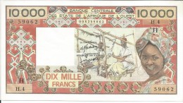 B.C.E.A.O. Niger  10.000 CFA  Sans Date H  Série  H. 4 - Niger