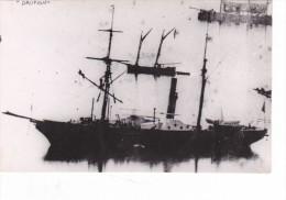 photo originale batiment militaire marine francaise le dauphin 1868 tampon musee de la marine