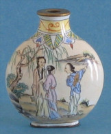 Parfumflesje ZONDER DOP In Cloisonné Email  (1378) Uit China - Art Oriental