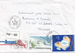 Senegal 1984 Kaolack Concorde Human Rights Registered Cover - Concorde