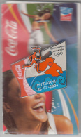 GREECE - Torch Race/Mytilini, Coca Cola Grand Sponsor Of Athens 2004 Olympics, Tirage 2500, Unused - Jeux Olympiques