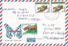 Ethiopia 2008 Summera Woodpecker 1Br Rhinoceros 45c Cover - Ethiopië