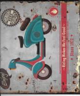Reproduction De .AttacheThe Scooter Time. Hipster Style. TP-104-25X33 - Cartelli Pubblicitari