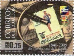 Lote EC9, Ecuador, 2009, Dia Mundial De La Filatelia,  Sello, Stamp On Stamp - Ecuador